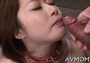 Harlot mother i'_d equal to to lose one's heart to asian sucks on hard cock