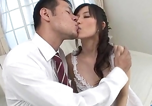 Manami Komukai blows increased by fucks in romantic scenes