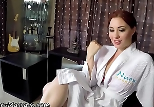 Ginger masseuse jizzed