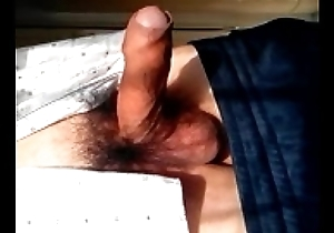 Asian varlet playing his fat cock here kitchen- Part 1