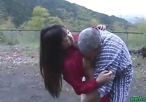 Asian Girl Getting Her Pussy Disobeyed And Fucked Apart from Dad Cum Forth Nuisance Alfresco At