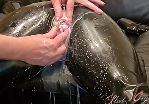 Slave Slut-Orgasma Celeste encircling Latex stretched holes, enema