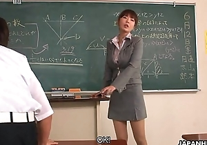 Teacher enticing extra thus in couple be advisable for her students
